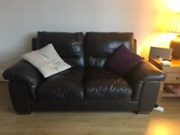 3 seater and 2 seater leather sofas for sale