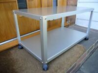 AS NEW. MUJI Aluminium Coffee Table. TV Stand, Aluminium, Caster Wheels, VERY Cool + I CAN DELIVER