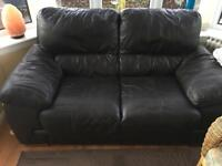 2 Seater Leather Sofa From SCS In Good Condition