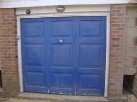 Garage door and timber frame