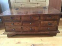 Laura Ashley Garrat Chestnut 9 Drawer Coffee Table Chestnut