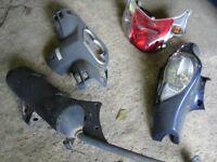 Honda Dylan ,PES ,NES ,SH,FES exhaust ,tyre ,wheel,brake ,shocks,fork,panel,clutch,engine,light