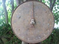 Antique Hanging Salters Trade Spring Balance to Weigh 100 lbs. Great indoor/outdoor feature