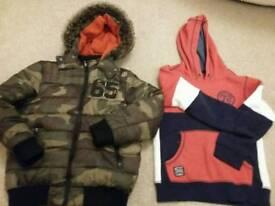Boys Coat and Hoodie 8-9yrs