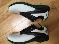 AS NEW Dunlop Waterproof Leather Biomimetic 300 Mens Golf Shoes & Superfeeet Insoles (UK Size 13)