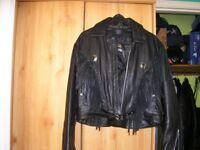 Jamin' U.S.A ladies fringed buffalo leather jacket- NEW