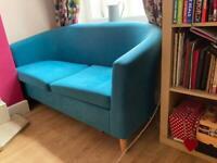 Turquoise Tub Sofa