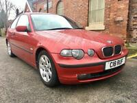 2002 BMW 320 TD SE Compact. Diesel. Drives Superb. Long Mot. Private Plate