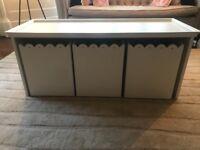 3 box white storage unit from Chic Shak London