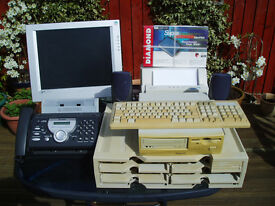 Computer,monitor, keyboard,printer, fax,