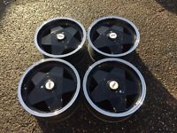 Borbet A deep dish alloy wheels, 4x108 Peugeot, Ford, Audi