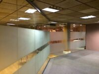10MM TOUGHENED GLASS PARTITIONS WITH DOORS