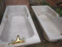 Ready for collection! Marble imitation Bathtubs 170x 80 cm