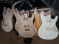 guitar bodies and necks