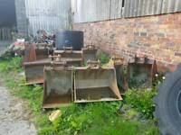 Jcb 3cx bucket selection some new and used
