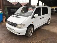 2001 Mercedes Vito 108cdi Van crew cab day van camper px welcome