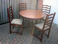 Quality Dining Table and four cahirs can extend (No veneer in here)