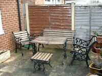 5 Pce Cast Iron Garden/Patio set
