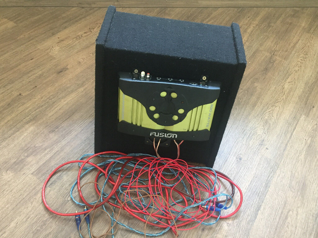 Fusion 300w En Am30020 Car Amp Amplifier Red 10 Inch Vrx Carpeted Activebass Wiring For Pickups Active Bass Box Enclosure In Locks Heath Hampshire Gumtree