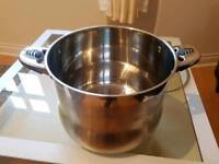 28cm Stockpot Stainless Steel with glass Lid