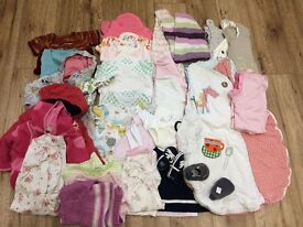Bundle of Baby Girls Clothes 0-6 months