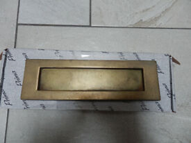 Brass letter box plate 10 x 3 inch