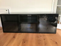 Ikea Bestå TV bench - black, brand new condition, glass doors