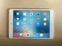 Apple iPad mini 2 a Retina Display 128gb, wifi and cellular white/silver in very good condition