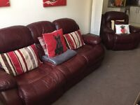 Two piece electric leather sofa