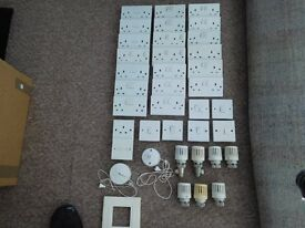 Numerous electrical and light sockects