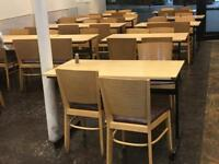 Used chairs and tables