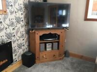 Large genuine Mexican pine tv/dvd corner unit.