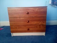 Chest of drawers - 3 drawers - ideal for child's bedroom