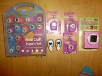 Craft set / Punch sets for craft activities, never used and good quality