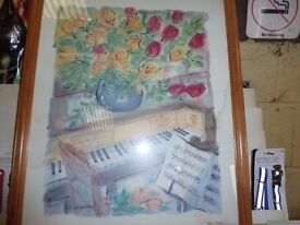 Key of life Painting Art picture wood frame slight water mark Delivery Available £5