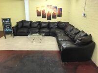 Huge Family Leather Corner Sofa
