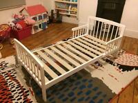 Tippitoes White Wooden Toddler Bed