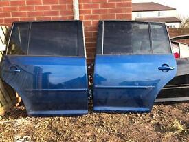 VW touran rear doors