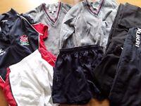 WELLINGTON COLLEGE BELFAST UNIFORM/PE GEAR - FOR BOY- YEAR 8----NINE items