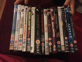 Selection of dvds. Some unopened