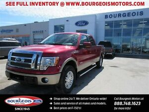 2012 Ford F-150 Lariat 4X4 CREW 6.5' BOX LEATHER REAR VIEW CAMER