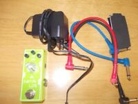 Tone City Kaffir Lime Pedal plus power supply and patch cables