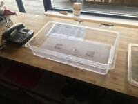 18 x 1/1 Gastronorm Container 100mm Clear