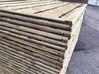🌎Heavy Duty Wooden Wayneylap Fence Panels New • Pressure Treated