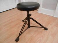 Set of four drums plus drum stool