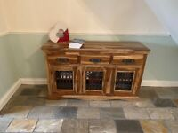 Indian Pine Sideboard with gorgeous unusual wood pattern