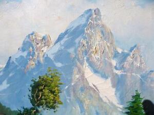 "C. Cosalini ""Alpine Mountain"" Oil Painting Stratford Kitchener Area image 3"
