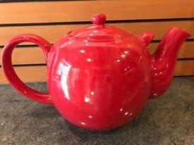 Giant Red Ceramic Tea Pot