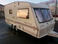 1998 BESSERCARR CAMEO 470 2 BIRTH LARGE CARAVAN WITH END BATHROOM AND TOILET