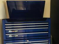 Blue snap on top box with keys